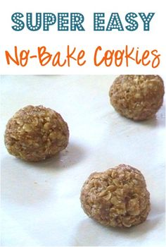 Super Easy No Bake Cookie Recipe! #cookies #recipes
