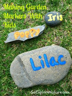 Making garden markers with kids