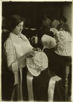 New York City Hat Maker, circa 1907.  Source: New York Public Library.