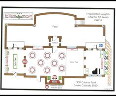 Set up for Fireside Room Reception- 66 Guests Location: Boettcher Mansion
