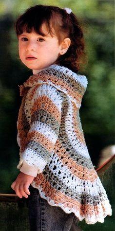 Bolero para niñas de 3-5 años Crochet