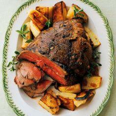 roast boneless, easter dinner, dinner recipes, potato, lamb, lemon, boneless leg