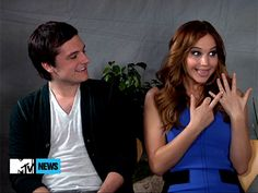 "Jennifer Lawrence & Josh Hutcherson ""We get married...AHH!!"""