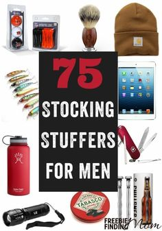 Need stocking stuffers for men ideas? Here you???ll find 75 stocking stuffers for him that fit any budget, so you are guaranteed to find the perfect gift for any man in your life (boyfriend, husband, father, friend, son etc.).