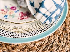 Layer Patterns - Create a Vintage-Style, Mismatched Tablescape on HGTV