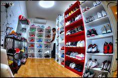 sneaker room, jordan closet, neaker closet