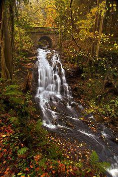 Autumn - waterfall