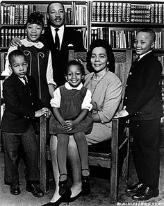 Martin Luther King, his wife Coretta Scott King and their beautiful children