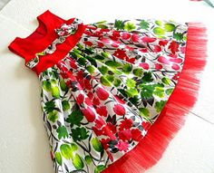 Sewing Patterns for Girls Dresses and Skirts: Christmas Dress Sewing Tutorial for Girls, 6 months to 10 years, Ashley Paneled Dress