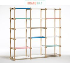 Colourful bookcase by HAY
