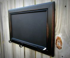 Chalkboard from an old kitchen cabinet.
