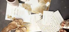 Glittery gold up to the gills! and theres more where that came from, check out all the new foil stamping wedding invitations!!