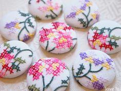 cross stitch buttons love lui