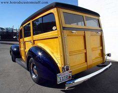 1940 Ford Woodie - 3/4 rear.