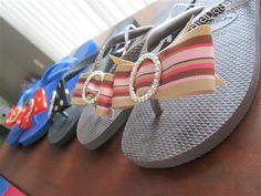 decor flip, how to decorate flip flops, cloth, ribbons, flipflop, bow, kid parti, shoe, parti idea