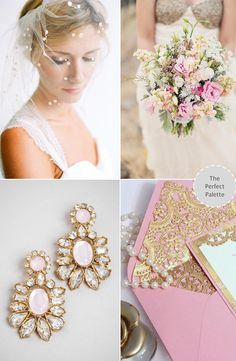 Now Trending: Shades of Pink + Gold (loving this!)