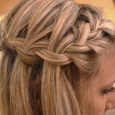 nail, idea, waterfalls, waterfal braid, makeup, hairstyl, hair style, beauti, waterfall braids