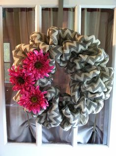 "READY TO SHIP- 22"" Charcoal Gray Burlap Bubble  Wreath, Spring Wreath, Burlap Bubble Wreath on Etsy, $75.00"