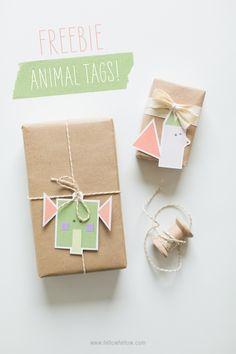 DIY Printable Animal Gift Tags