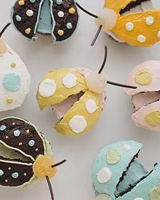 Garden theme - Bug Cupcakes