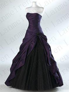 Purple Wedding Dress A-line Wedding