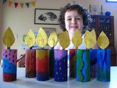 Cardboard tube candle