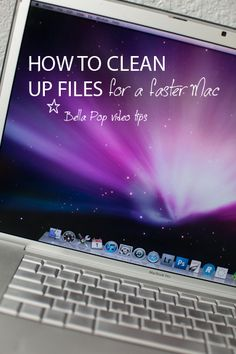 How to clean up files for a faster Mac!  I have personally done this and it works. Good tip!  :-)