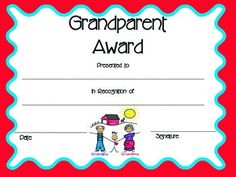 school, awardcertif, grandparents