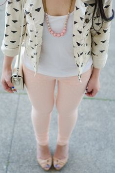 The Fancy Pants Report :: Styled with the @31 Bits Luna necklace in blush/pink!