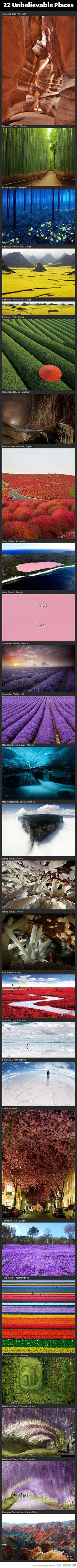 Unbelievable places around the world…