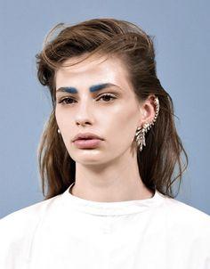 blue + brow