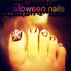 Toe nails for Halloween! First time attempting!!!