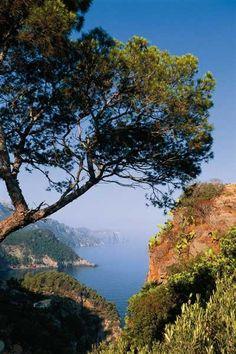 Cala Banyalbufar beach in Mallorca, Spain