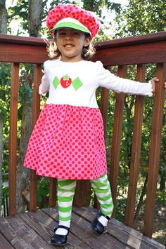 Strawberry Shortcake Outfit Tutorial for Natalie's Birthday