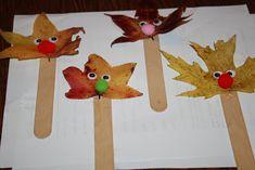 Cute leaf puppets