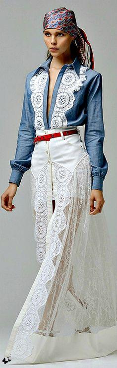 embellished denim shirt  ♥