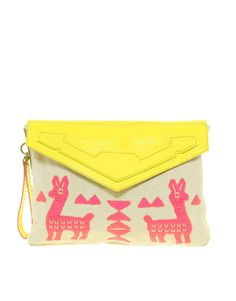 Llama Neon Clutch / ASOS
