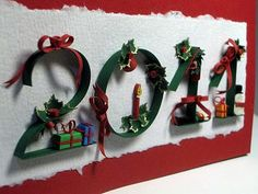 by Suzana Ilic of Serbia 3d quill, year quill, quill card, paper, christma quill, quill christma, quill holiday, quilling, artist