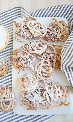 Simple homemade funnel cakes
