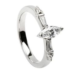 Trinity Knot Engagement Ring with Marquise Diamond - 14k Gold  Price : $7,979.95 http://www.biddymurphy.com/Trinity-Knot-Engagement-Marquise-Diamond/dp/B00JQLJU2S