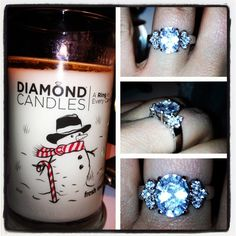Fresh Snow #Diamond #Candle! This one is great for the #Christmas #Holidays!   $24.95