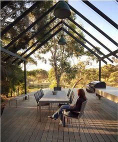by Rick Eckersley garden architecture, garden design, outdoor rooms, gardens, outdoor decks, backyard decks, pergola, garden inspir, hous structur
