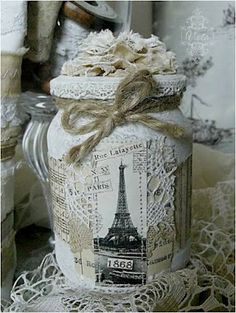 shabby chic, sale craft, favorit thing, pretti thing, alter bottl, craft booth, bit chic, recycl bottl