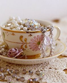 Teacup Jewelry Holder