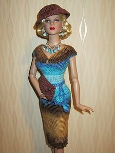 """OOAK clothes for DeeAnna Denton Peggy Harcourt,Lara curvaceous body 16"""" outfit"""