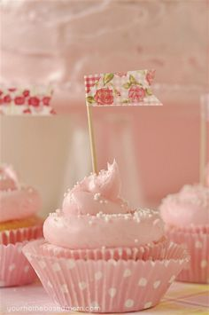 Oh So Pretty... Pink Lemonade Cupcakes ... Recipe ... is Yummy Good!
