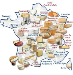Now for the beginner: this is a good start: the main French regions with well known cheese, which can be just about bought around planet earth!