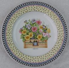 One of the Debbie Mumm Sakura Spring Bouquet Plates I display every spring