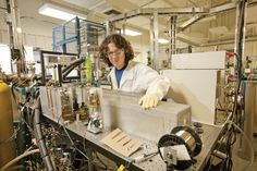Faster analysis from biological accelerator mass spectrometry: Avi Thomas works with a biological accelerator mass spectrometry (bioAMS) instrument at Livermore. The system includes a high-performance liquid chromatograph and a moving-wire interface, which allow researchers to directly study liquid samples.  Read more: http://1.usa.gov/18CF2ba