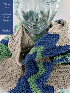 Chevron infinity scarf crochet tutorial